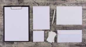 Модель-макет дизайна Letterhead и идентичности Стоковые Изображения RF