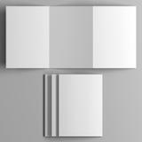 Модель-макет листовки Взгляд сверху Стоковое фото RF