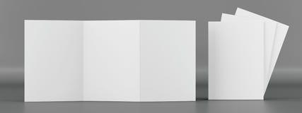 Модель-макет листовки Вид спереди Стоковая Фотография