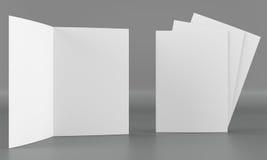Модель-макет листовки Вид спереди Стоковое Изображение RF