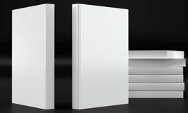 Модель-макет книги на темной предпосылке Стоковое фото RF