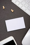 Модель-макет корпоративных канцелярских принадлежностей клеймя с пробелом визитной карточки Стоковое Изображение