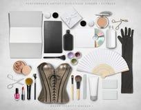 Модель-макет образа бренда Стоковые Изображения