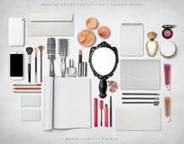 Модель-макет образа бренда Стоковое Изображение