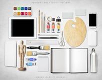 Модель-макет образа бренда Стоковая Фотография RF