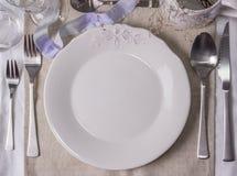 Модель-макет таблицы свадьбы, шаблон для дизайна меню, карточки места Винтажная фотография моды Стоковая Фотография RF