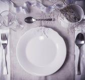 Модель-макет таблицы свадьбы, шаблон для дизайна меню, карточки места Винтажная фотография моды Стоковые Фотографии RF