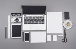 Модель-макет фирменного стиля и webdesign Стоковые Фото