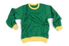 Модель-макет футболок рукава носки зимы полный изолированный в зеленом желтом цвете Стоковые Изображения