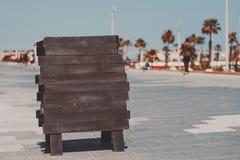 Модель-макет черного деревянного знамени Стоковое Фото