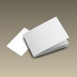 Модель-макет gold5 визитной карточки Стоковая Фотография