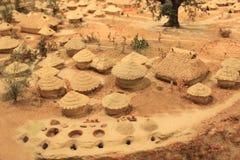 Модель места поселения Jiangzhai Стоковая Фотография RF