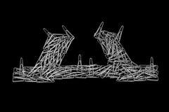 Модель моста от бумажных зажимов Стоковое Фото