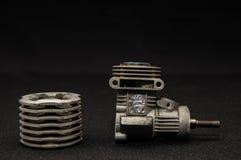 Модель мотора 3d двигателя поршеня Стоковая Фотография