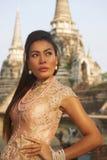 Модель на виске Ayutthaya Стоковое Изображение