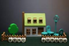 Модель недвижимости дома Стоковое Фото