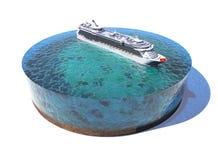 Модель океана иллюстрация штока