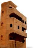 Модель дома 3 d здания мульти-этажа сделанного из экологических материалов Стоковое Фото