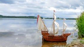 Модель парусного судна - ручной работы Santa Maria Стоковое Фото