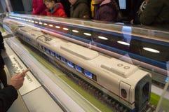 Модель поезда на выставке Стоковые Изображения