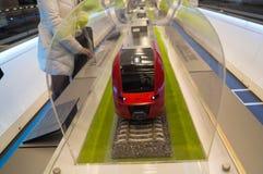 Модель поезда скорости на выставке Стоковые Фото