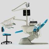 Модель современного зубоврачебного стула иллюстрация 3d Иллюстрация вектора