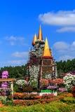 Модель средневекового замка цветков Стоковое Изображение RF