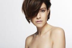 Модель с модными волосами Стоковое фото RF