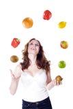 Модель с фруктами и овощами стоковые фотографии rf