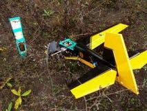 Модель укомплектованных личным составом воздушных судн аварии Стоковые Изображения