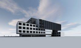 модель 3D здания Стоковое Изображение RF