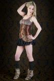 Модель steampunk dreadlocks сексуальной девушки белокурая Стоковые Фото