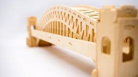 Модель woodcraft моста гавани Сиднея Стоковая Фотография