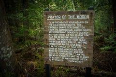 Молитва древесин на северном следе страны Стоковые Фотографии RF
