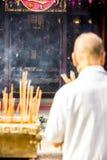 Молитва Wong Tai Sin Temple Даосизма стоковые фото