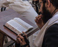 Молитвы на западной стене Стоковые Фото