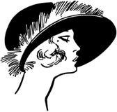Модная дама двадчадк иллюстрация вектора