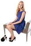 Модная грациозно молодая женщина Стоковые Фото