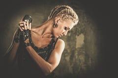 Модная девушка steampunk Стоковые Изображения RF