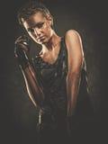 Модная девушка steampunk Стоковое фото RF