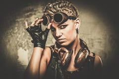 Модная девушка steampunk Стоковая Фотография RF