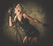 Модная девушка steampunk Стоковые Изображения