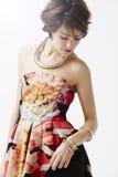 Модная женщина в студии Стоковая Фотография