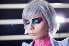 Модная женщина с творческим составом стоковая фотография rf