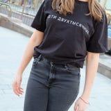 Модная русская девушка стоковая фотография rf