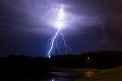 Молния в небе Стоковая Фотография