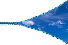 Молния изолированная на белой предпосылке и голубом небе Стоковая Фотография RF