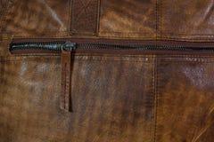 Молния кожаной сумки Стоковые Фотографии RF