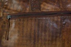 Молния кожаной сумки Стоковые Фото