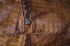 Молния кожаной сумки Стоковое фото RF